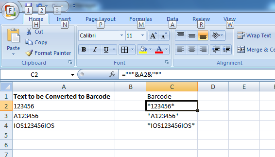 Generating Barcodes for your SKUs in MS Excel [ A step by