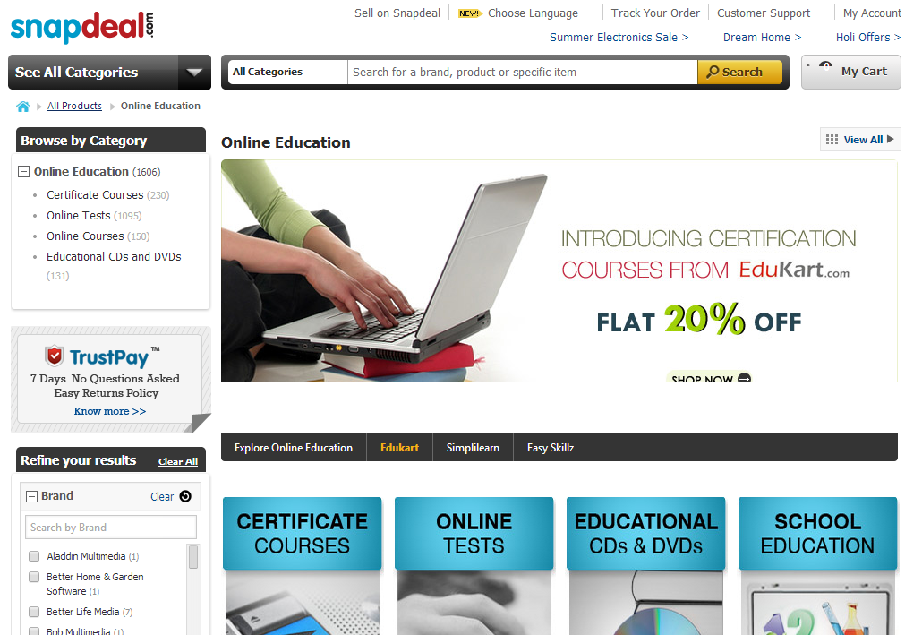 Snapdeal launches India's first Online Education Marketplace