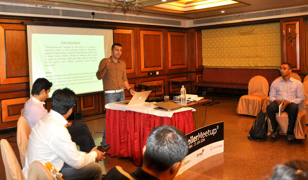 Suraj  at our recent IOS Seller Meetup in Mumbai