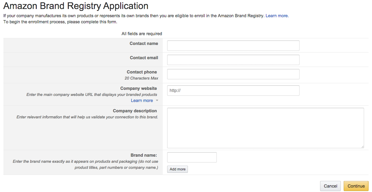 Changes in requirements for amazon brand registry amazon brand registry spiritdancerdesigns Choice Image