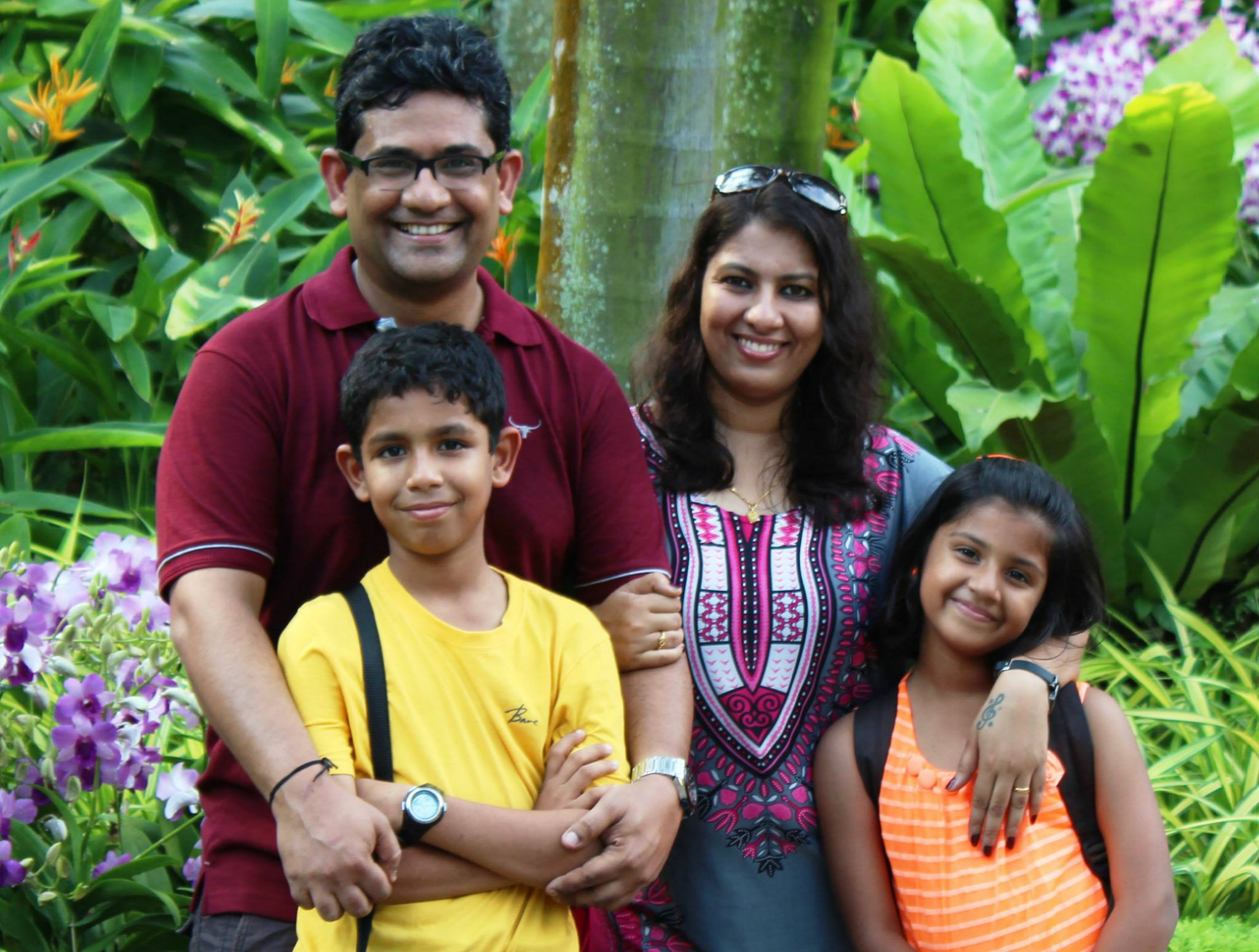Shalini with her family