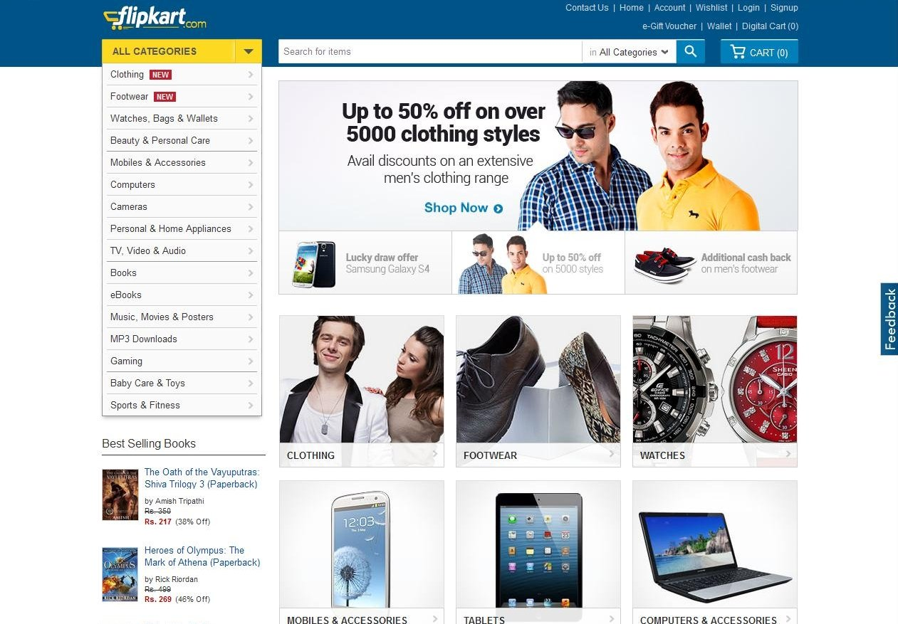 Flipkart introduces native advertising to help online for Best websites to online shop