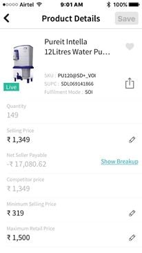 Snapdeal Packing Charges