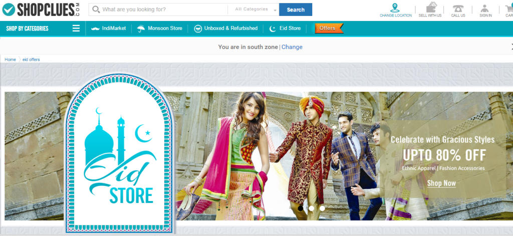 http://www.shopclues.com/eid-offers.html