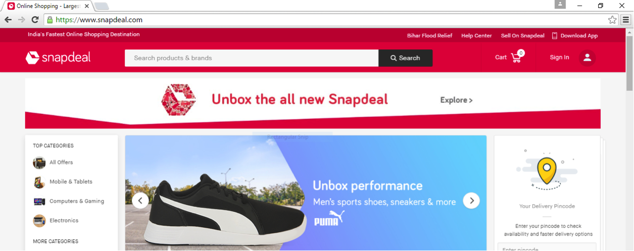 snapdeal new