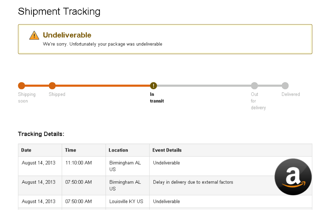 The kinks in Amazon's shipment tracking system & its efforts