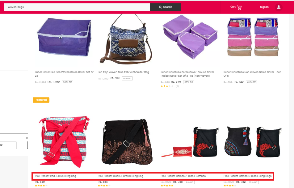 https://www.snapdeal.com/search?keyword=woven%20bags&santizedKeyword=&catId=&categoryId=0&suggested=false&vertical=&noOfResults=20&searchState=&clickSrc=go_header&lastKeyword=&prodCatId=&changeBackToAll=false&foundInAll=false&categoryIdSearched=&cityPageUrl=&categoryUrl=&url=&utmContent=&dealDetail=&sort=rlvncy