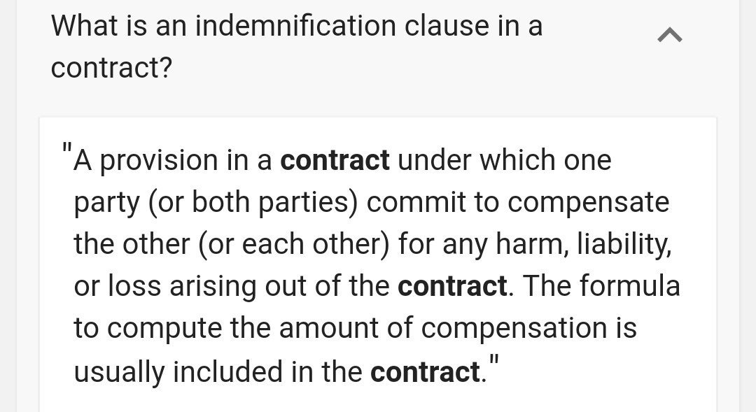 Indemnity Clause